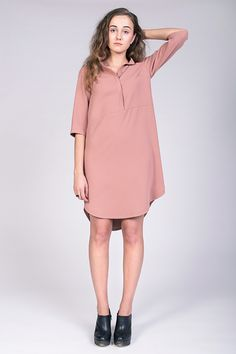 Helmi Tunic dress sewing pattern by designer Named clothing. Find out more and read reviews of this dressmaking pattern!