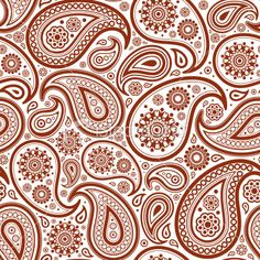 seamless pattern with paisley Royalty Free Stock Vector Art Illustration