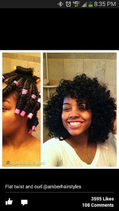 Love the curl better than bantu knot
