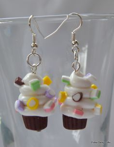 Dolly Mixture Mini Cupcake Earrings - The Supermums Craft Fair