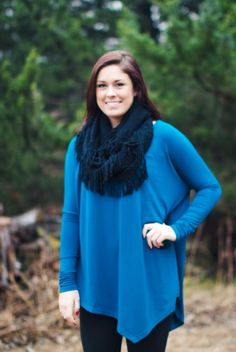 """Downtown Charm""- teal tunic"