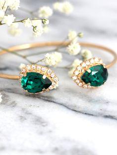 Emerlad Bracelet Emerlad Bridal Bracelet Bridal Rose by ilona Rubin  #emerald…