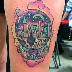 "1,303 Likes, 10 Comments - Hogwarts Tattoo (@hogwartstattoo) on Instagram: ""Hogwarts crystal ball by @helenadarling. Tag your tattoos with #HogwartsTattoo and @hogwartstattoo."""