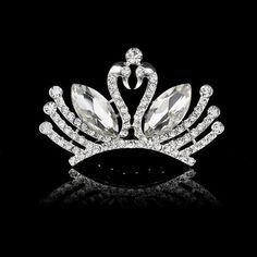 2016 Elegant Wedding Bridal Tiaras Crowns Headwear Rhinestone Pearl Wedding Hair…