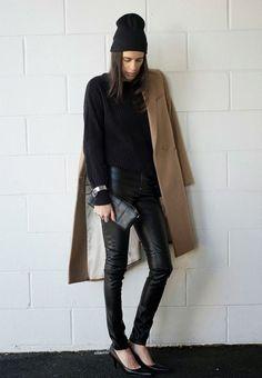 #woman #winter #look #outfit #coat #wear