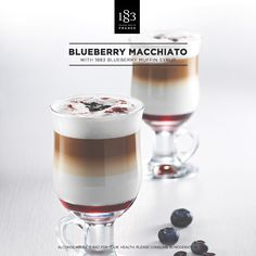 Blueberry Macchiato with 1883 BLeuberry Muffin syrup #barista #macchiato #fruity