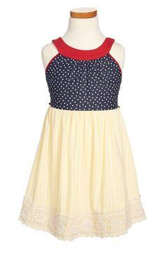 Twirls & Twigs Star and Stripe Dress (Little Girls & Big Girls) | Nordstrom