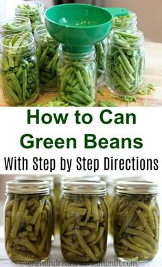 Canning 101 - How to Can Green Beans Well, I did it. I successfully canned green beans in a pressure canner, and I didn't blow up the house either. I totally feel like Olivia Walton right now. In fact I might even go cut up some fabric and sew me a quilt Home Canning Recipes, Canning Tips, Canning Beans, Pressure Canning Green Beans, Pressure Canning Recipes, Canning Green Bean Recipe, Canned Green Bean Recipes, Canning Corn, Canning Potatoes