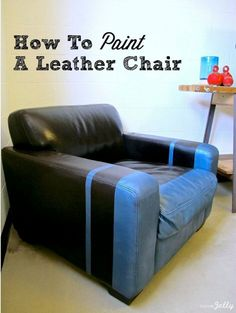 How To Paint A Leather Chair.via HomeJelly
