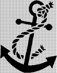 Anchor - Crochet Graphghan Pattern (Chart/Graph AND Row-by-Row Written Instructions) - 02