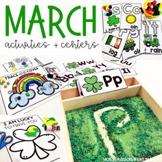 March activities for prek, preschool, and kindergarten