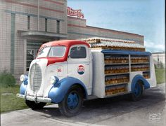 b+w ford pepsi truck Antique Trucks, Vintage Trucks, Old Trucks, Fire Trucks, Ford Tractors, Ford Pickup Trucks, Pick Up, Pin Up Girls, Coca Cola