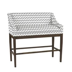 Marcello Counter Bench With Antique Brass Nailheads From Ballard - Counter height bench for kitchen island