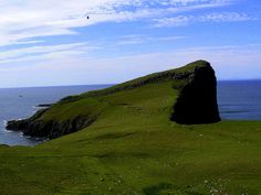Neist Point, the most westerly point of Skye, with its 350 miles of coastline, is the largest and best known of the Inner Hebrides (great opportunity to observe whales, dolphins, porpoises and basking shark).