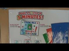 The 5 Minute Poster Kit is the easiest way to make a poster in a hurry! Check it out!