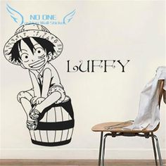 Creative DIY wall art of Japanese anime One Piece Luffy wall stickers kids rooms home decoration wall stickers living room