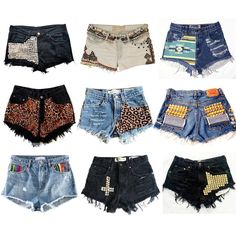 diy shorts found on Polyvore