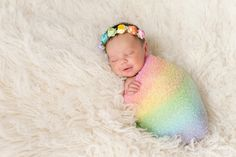 Aug 22 was National Rainbow Baby Day! Whats a rainbow baby? A miracle baby born after suffering a miscarriage stillbor. Erwarten Baby, Baby Girl Newborn, Baby Love, Newborn Crown, Newborn Pictures, Baby Pictures, Newborn Pics, Newborn Care, Newborn Session