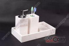 white marble tray/dispenser/teethbrush holder Marble Tray, White Marble, Stone Tumbler, Design Your Own Bathroom, Marble Bathroom Accessories, Toilet Brush, Bathroom Sets, Soap Dispenser, Soap Dispenser Pump