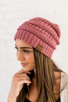 ef55923c0e89f CC Beanie Knit Hat 100% Acrylic Fits True To Size Punto De Media