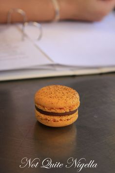 Salted Caramel Macaron recipe, Macaron Masterclass, Baroque Bistro @ Not Quite Nigella