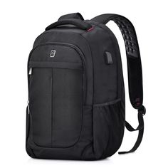 519912ce7776 Sosoon Laptop Backpack with USB Charging Port Business Anti-Theft Water  Resistant Polyester Travel Backpack School Bookbag for College Up to Laptop  and ...