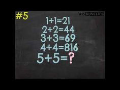 Wiskunde Raadsel #5 - YouTube Algebra, Calm, Youtube, Youtubers