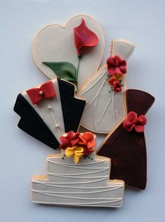 fall wedding cookies | ... autumn color palette incorporated into their classic wedding cookies
