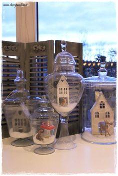 Christmas village in a jar...