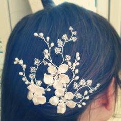 May Blossom hairpins arranged as a trio. Hermione Harbutt.