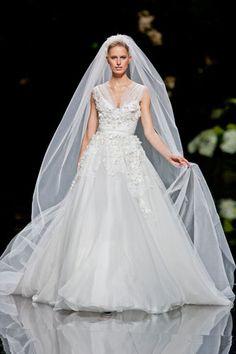 Elle Saab barcelona bridal fashion week 2013.  Photo: Imaxtree