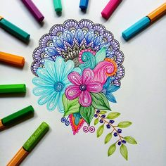 Doodle art - Astounding Exercises To Get Better At Drawing Ideas – Doodle art Mandala Art, Mandala Doodle, Design Mandala, Mandalas Painting, Mandalas Drawing, Zentangle Drawings, Zentangle Patterns, Doodle Drawings, Cartoon Drawings