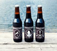 Hamnmästaren Summer Beer Labels by Anna Lindner, via Behance