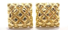 14k Solid Gold Square Huggie Earrings Unique Eye Catching Design Free Shipping