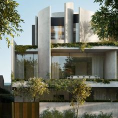 Modern Architecture House, Residential Architecture, Interior Architecture, Interior Exterior, Exterior Design, Porches, Property Design, Beautiful Buildings, Mesh Screen