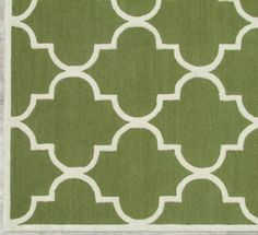 Blair Scroll Green Handmade Persian Style Woolen Area Rug Carpet