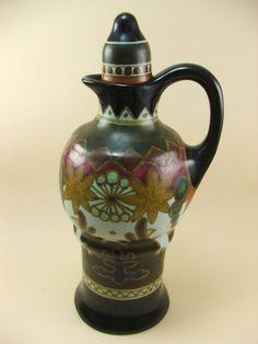 Art Deco Gouda pottery carafe Arnhem Holland Astra pattern Ξ Ω