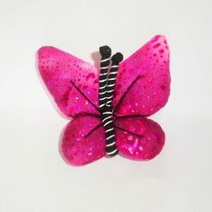 Pink Butterfly Pin Butterfly Brooch Unique Plush by FabricTwist, $6.50
