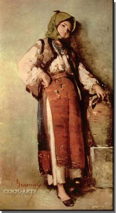 Peasant Woman with Pitcher - Nicolae Grigorescu