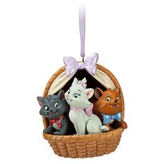 *BERLIOZ, MARIE & TOULOUSE ~ The Aristocats Sketchbook Ornament | Sketchbook Ornament Collection | Disney Store