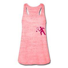 A stylized tennis player. Men, pink.