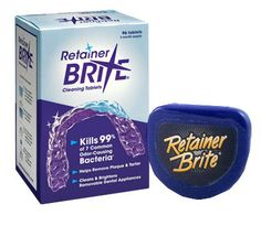 Retainer Brite- cleaner for retainers and invisalign! Denture cleaner works wonders as well!