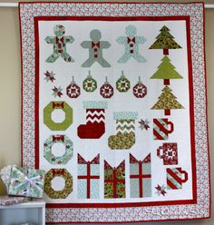 Deck-ade the Halls, celebrating 10 years with 10 blocks and 10 fabrics at Fat Quarter Shop! Get started on this FREE quilt along!