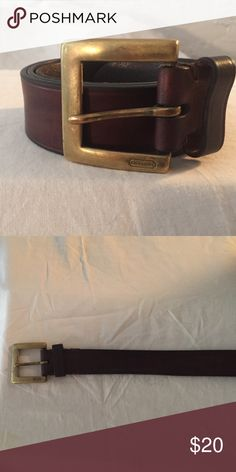 Coach Brown Leather Belt Coach Belt.  Leather. Handcrafted in Italy, Coach Accessories Belts