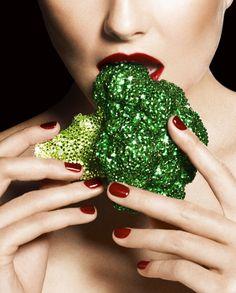 Victor Demarchelier photographs Harper's Bazaar Beauty, Aug 2012 Mode gourmande #vickydailyinspo