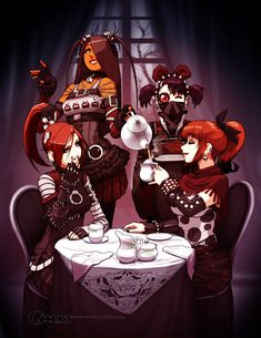 GreenWitch Tea is a boutique, online tea shoppe that ethically sources & buys small batches of pure Green Tea from family & cooperative tea gardens Girls Tea Party, Tea Parties, Pure Green Tea, Modern Goth, Rp Ideas, Goth Art, Cartoon Pics, Borderlands, Character Design References