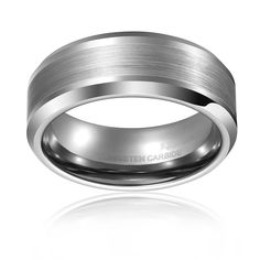King Will 8mm Men's White Tungsten Ring Comfort Fit Matte Finished Center Wedding Band|Amazon.com  http://www.amazon.com/King-Will-Comfort-Finished-Tungsten/dp/B00LEC2AN8/ref=sr_1_111?s=apparel&ie=UTF8&qid=1438569041&sr=1-111&refinements=p_4%3AKing+Will