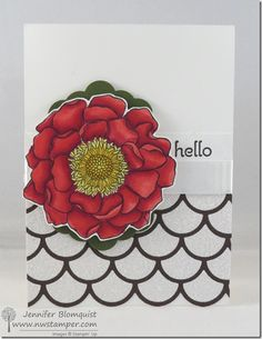 A Simple Hello with Blended Blooms with a NEW Blendabilities Basics Video Tutorial | Northwest Stamper