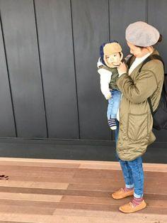 ぽかーん。笑 デニムとカーキでリンク♡ 今日から12月♡ 息子 best→gap baby park