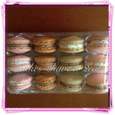 French macaroons - vanilla, sour cherry and chocolate flavours
